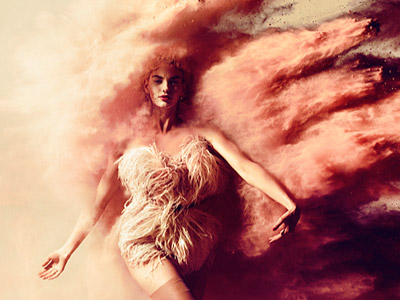Kristian Schuller- fragment of Laura, Powder Explosion. Fashion Peggy Schuller. South Africa, 2010. Color Print, 80 x 65 cm